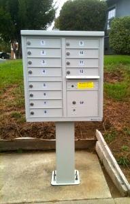 Mitchell Court's new mailbox