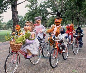 muppetsridingbikes